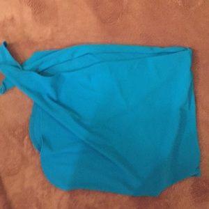 Victoria's Secret blue swim sarong